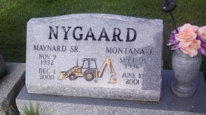 memorial carved tractor