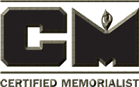 Certified Memorialist Logo and Information