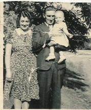 Carole with her parents Alvie and Rosie