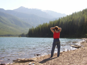 Sharon at Stanton Lake, MT